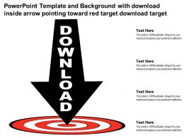 Powerpoint Template With Download Inside Arrow Pointing Toward Red Target Download Target