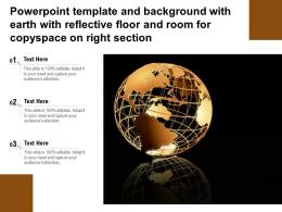Powerpoint Template With Earth With Reflective Floor And Room For Copy Space On Right Section