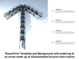 Powerpoint Template With Endering Of An Arrow Made Up Of Disassembled Bicycle Roller Chains