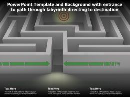 Powerpoint Template With Entrance To Path Through Labyrinth Directing To Destination