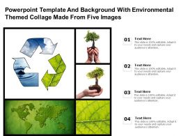 Powerpoint Template With Environmental Themed Collage Made From Five Images