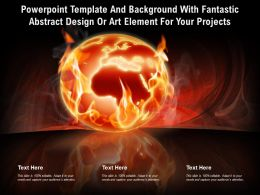 Powerpoint Template With Fantastic Abstract Design Or Art Element For Your Projects