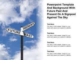 Powerpoint Template With Future Past And Present On A Signpost Against The Sky