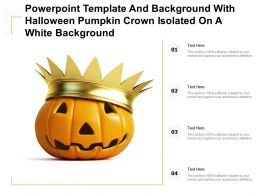 Powerpoint Template With Halloween Pumpkin Crown Isolated On A White Background