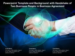 Powerpoint Template With Handshake Of Two Business People In Business Agreement