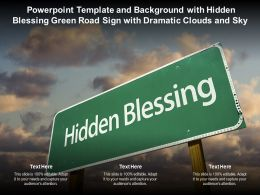 Powerpoint Template With Hidden Blessing Green Road Sign With Dramatic Clouds And Sky