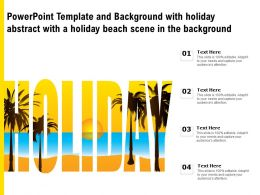 Powerpoint Template With Holiday Abstract With A Holiday Beach Scene In The Background