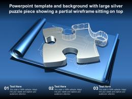 Powerpoint Template With Large Silver Puzzle Piece Showing A Partial Wireframe Sitting On Top