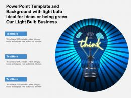 Powerpoint Template With Light Bulb Ideal For Ideas Or Being Green Our Light Bulb Business