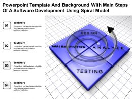 Powerpoint Template With Main Steps Of A Software Development Using Spiral Model