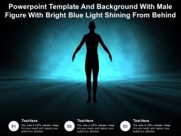 Powerpoint Template With Male Figure With Bright Blue Light Shining From Behind