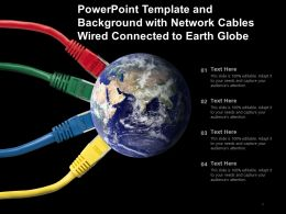 Powerpoint Template With Network Cables Wired Connected To Earth Globe