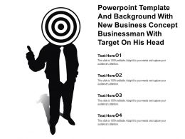Powerpoint Template With New Business Concept Businessman With Target On His Head