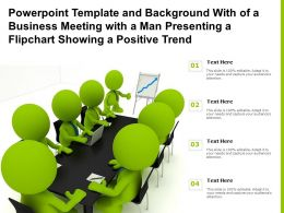 Powerpoint Template With Of A Business Meeting With A Man Presenting A Flipchart Showing A Positive Trend