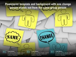 Powerpoint Template With One Change Person Stands Out From The Same Group Person
