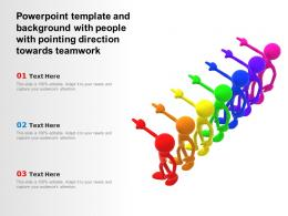 Powerpoint Template With People With Pointing Direction Towards Teamwork
