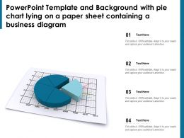 Powerpoint Template With Pie Chart Lying On A Paper Sheet Containing A Business Diagram