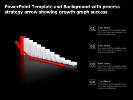 Powerpoint Template With Process Strategy Arrow Showing Growth Graph Success