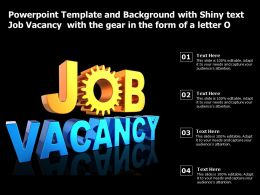 Powerpoint Template With Shiny Text Job Vacancy With The Gear In The Form Of A Letter O
