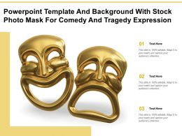 Powerpoint Template With Stock Photo Mask For Comedy And Tragedy Expression