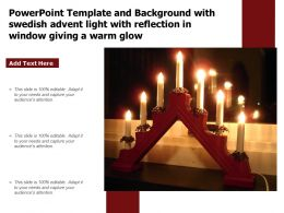 Powerpoint Template With Swedish Advent Light With Reflection In Window Giving A Warm Glow