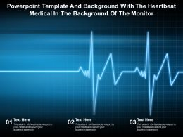 Powerpoint Template With The Heartbeat Medical In The Background Of The Monitor