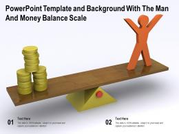 Powerpoint Template With The Man And Money Balance Scale