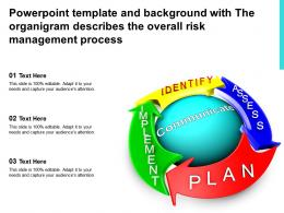 Powerpoint Template With The Organigram Describes The Overall Risk Management Process