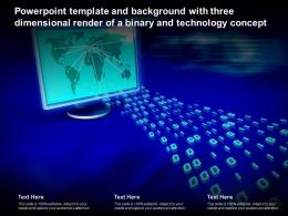 Powerpoint Template With Three Dimensional Render Of A Binary And Technology Concept