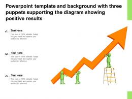 Powerpoint Template With Three Puppets Supporting The Diagram Showing Positive Results