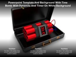 Powerpoint Template With Time Bomb With Dynamite And Timer On White Background
