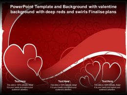 Powerpoint Template With Valentine Background With Deep Reds And Swirls Finalise Plans