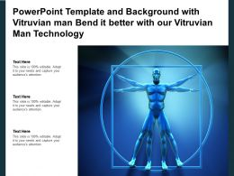 Powerpoint Template With Vitruvian Man Bend It Better With Our Vitruvian Man Technology