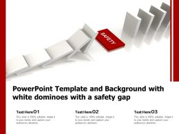 Powerpoint Template With White Dominoes With A Safety Gap Ppt Powerpoint