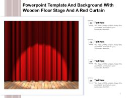 Powerpoint Template With Wooden Floor Stage And A Red Curtain Ppt Powerpoint