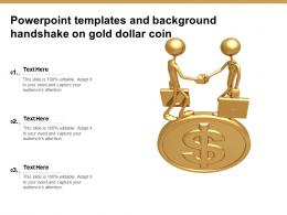 Powerpoint Templates And Background Handshake On Gold Dollar Coin