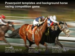 Powerpoint Templates And Background Horse Racing Competition Game