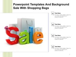 Powerpoint Templates And Background Sale With Shopping Bags