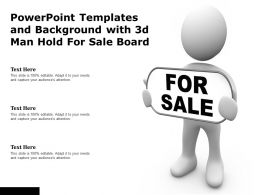 Powerpoint Templates And Background With 3d Man Hold For Sale Board