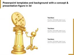 Powerpoint Templates And Background With A Concept And Presentation