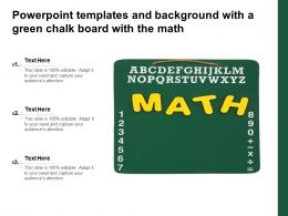 Powerpoint Templates And Background With A Green Chalk Board With The Math