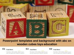 Powerpoint Templates And Background With Abc On Wooden Cubes Toys Education