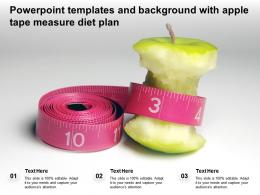 Powerpoint Templates And Background With Apple Tape Measure Diet Plan