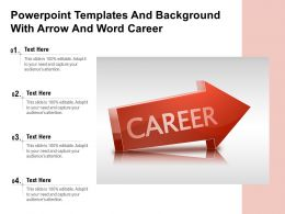 Powerpoint Templates And Background With Arrow And Word Career