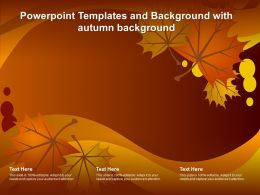 Powerpoint Templates And Background With Autumn Background