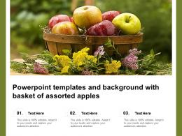 Powerpoint Templates And Background With Basket Of Assorted Apples