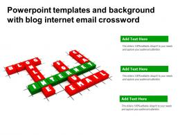 Powerpoint Templates And Background With Blog Internet Email Crossword