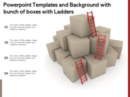 Powerpoint Templates And Background With Bunch Of Boxes With Ladders