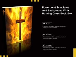Powerpoint Templates And Background With Burning Cross Book Box