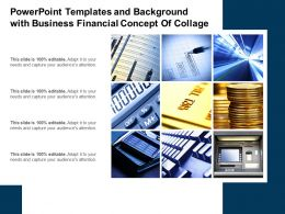 Powerpoint Templates And Background With Business Financial Concept Of Collage